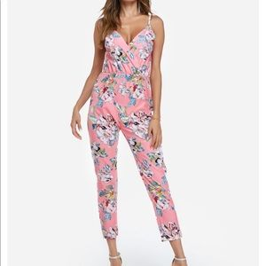 Pants - TAG ON Sexy Floral Pink Jumpsuit